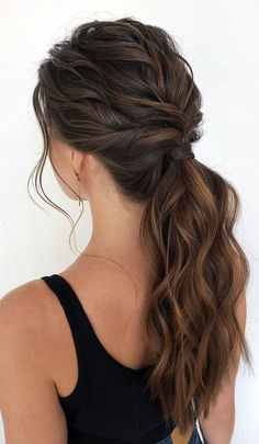 Cute Ponytail Hairstyles, Cute Ponytails, Hairstyles Haircuts, Gorgeous Hairstyles, Low Pony Hairstyles, Prom Ponytails, Simple Ponytails, Natural Hairstyles, Date Night Hairstyles