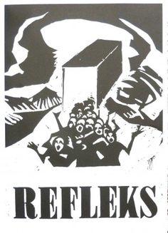 Refleks Exhibition poster 2014 design  Andrzej Bobrowski - Bunt – Expressionism