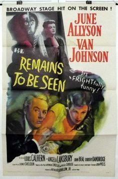 REMAINS TO BE SEEN - VAN JOHNSON / JUNE ALLYSON - ORIGINAL USA 1SHT MOVIE POSTER