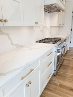 Our recent all-white kitchen project with Deena Knight Designs is packed with glamour. Check out more of our kitchen projects on our website. Kitchen Countertops, Kitchen Cabinets, All White Kitchen, Kitchen Gallery, Next At Home, Home Projects, Knight, Glamour, Website