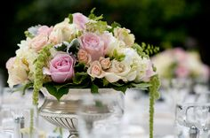 Lovely traditional centerpiece! Photography by bandgphotography.com, Floral Design by commerceflowers.com