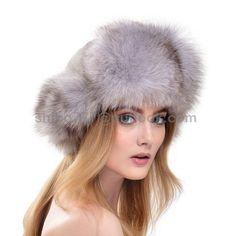 447f4a2c339 Real Genuine Women s White Fox Fur Hat Russian Style Winter Warmer Ear Cap. 2016  New ...
