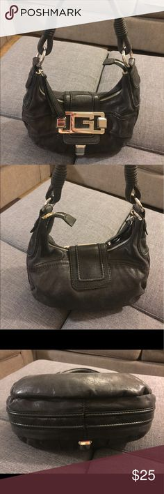 Guess purse black and gold cute date night bag EUC cute for a night out on the town Guess Bags Shoulder Bags
