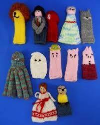 Image result for knitting patterns for finger puppets