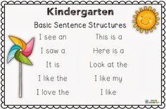 Making and Writing Spring Sentences for Kindergarten {vocab & sentence work}