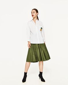 ZARA - WOMAN - FRILLED SKIRT WITH VENTS