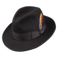Pinch Crown Crushable Wool Felt Fedora Hat aaf87ddb3a5