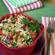 Thai Peanut Slaw Salad - 95 calories only. Healthy, vegan and gluten-free friendly too!