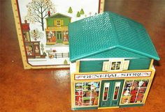 """Avon 1982 Country Christmas """"McConnell's Corners General Store"""" BOX TOWN VILLAGE"""