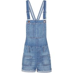 Madewell Adirondack denim overalls ($165) ❤ liked on Polyvore featuring jumpsuits, blue, overalls jumpsuit, blue jumpsuit, blue bib overalls, madewell and blue overalls