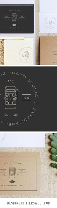 Wedding photography branding. Photographer logo templates. Marketing design.
