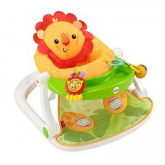 A compact take-along floor seat offering babies the right amount of support to help them sit up and play.