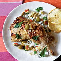 Chicken with Lemon and Olives | MyRecipes.com