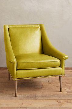 Premium Leather Tillie Armchair - anthropologie.com