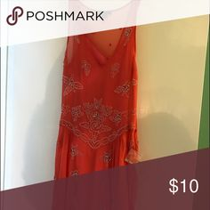 Forever 21 Dress! Traditional Indian work on a modern style peach dress -- never worn Forever 21 Dresses