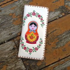 Embroidered flat wallet made with Eco-friendly toxic-free vegan materials from LAVISHY's Elma collection. Wholesale available at www.lavishy.com #vegan #wallet #gift #wholesale #onlineshopping Tech Accessories, Fashion Accessories, Fashion Jewelry, Vegan Wallet, Embroidery Motifs, Matryoshka Doll, Vegan Fashion, Handmade Necklaces, Eco Friendly