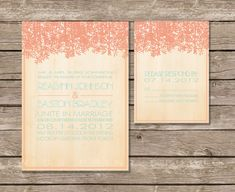 Wedding Invitation Rustic Southern Invite by twigsprintstudio