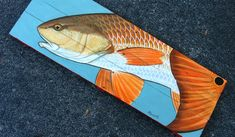 Fish and wildlife paintings on hand made wood panels.  Original acrylic painting on reclaimed and refurbished oak pallet wood. Kind of a