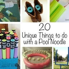 20 Unique Things to do with a pool Noodle