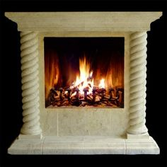 Realm of Design Corde Fireplace Mantel and Surround features custom rope columns and a raised Fireplace Hearth. Decor, Wood, Fireplace Mantels, Flooring, Wood Floors, Home Decor, Fireplace Surrounds, Fireplace, Fireplace Hearth
