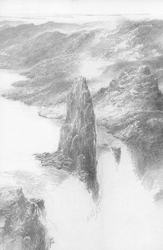 The Falls of Rauros by Alan Lee