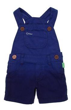 Overall corto en tejido plano para bebe niño.Compra en la tienda On Line de Off Corss - OFFCORSS