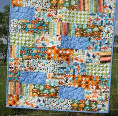 Cars Airplanes Trains Boy Quilt by SunnysideDesigns2 on Etsy, $148.00