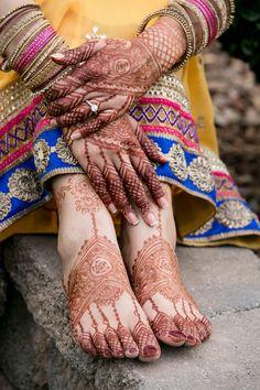 Bridal hand and legs mehndi henna designs