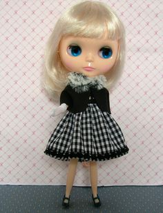 Dress in black and white gingham plus by PullipBlytheFashion