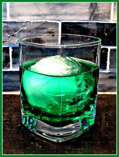 Emerald Isle- 2 oz gin, 1 oz creme de menthe, few dashes bitters