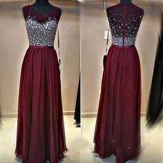Chiffon Prom Dresses Beaded Formal Wear pst1321