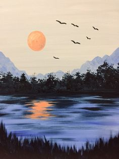 I am going to paint Cool Summer Night at Pinot's Palette - Ellicott City to discover my inner artist!