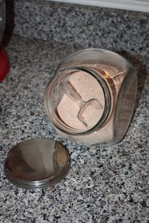 Homemade Hot Chocolate Mix: 2 c. powdered sugar, 1 c. cocoa, 2 1/2 c. powdered milk, 1 t. salt, 2 t. cornstarch
