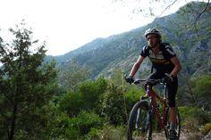 Rider Mark Somerville grinding it out in Sospel