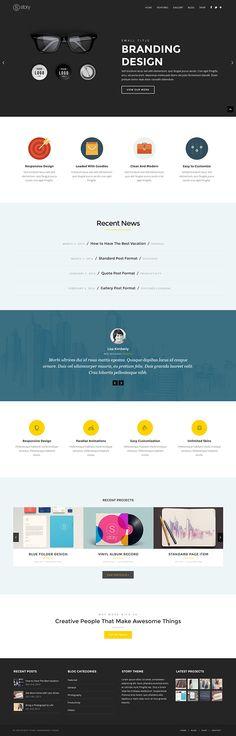 Story - CreAtive Flexi WP Theme by CreAtive Web Themes, via Behance
