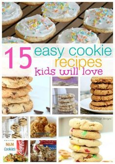 Easy Cookie Recipes idea , Kids Cookie Recipes, Cookies for Kids - bars, desserts, party
