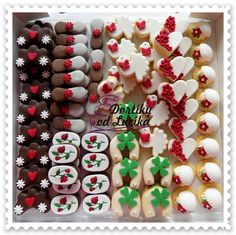 Svatební cukroví :: Dortíky od Lucíka Food Decoration, Christmas Baking, Sugar Cookies, Sweet Tooth, Yummy Food, Holiday Decor, Cooking, Wedding, Games