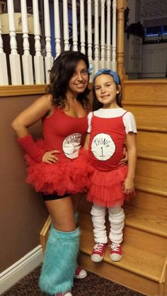 Mommy daughter Halloween costume. THINGS 1 AND 2