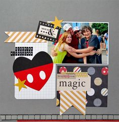 Disneyland scrapbook page from cross-country road trip.