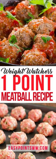 Weight Watchers Meatball Recipe - ONLY 1 Point! ♥