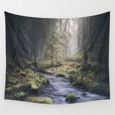Silent whispers Wall Tapestry by HappyMelvin