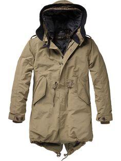 Hooded parka with inner vest via Scotch & Soda