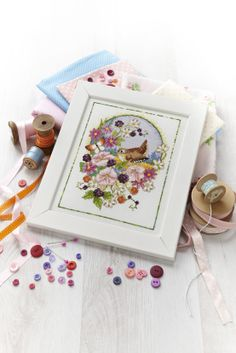 How pretty is Lesley Teare's autumnal bird? She designed it for our September 226 issue: http://www.myfavouritemagazines.co.uk/stitch-craft/cross-stitch-collection-magazine-back-issues/cross-stitch-collection-september-13/