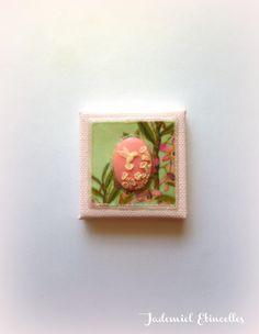 """Mini toile décorative série """" Songes de fleurs """" n°92 : Accessoires de maison par jademiel-etincelles"""