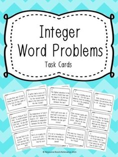 24 task cards using real life examples of using integers. Math Teacher, Math Classroom, Teaching Math, Teaching Tools, Teaching Resources, Integers Activities, Math Activities, Numeracy, Math Games