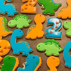 Loved making these. Dinosaur First Birthday, Baby Boy 1st Birthday, 2nd Birthday Parties, Birthday Party Decorations, Elmo Birthday, Dinosaur Cookies, Dinosaur Cake, Dinosaur Party, Elmo Party
