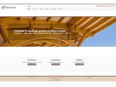 immagine homepage nuovo sito Toffoletto Progetti by Holbein & Partners web agency.