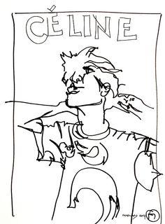 belle BRUT sketchbook: #CELINE #fashion #style #illustration #blindcontour © belle BRUT 2014   http://bellebrut.tumblr.com/post/93748542710/belle-brut-sketchbook-celine-fashion-style