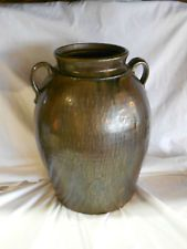 Antique Crawford County Georgia Jar Pottery Paint Rock Glaze Marked HN H. Long
