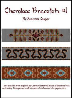 CHEROKEE BRACELETS #1 - Bead Patterns 24-7 - Suzanne Cooper